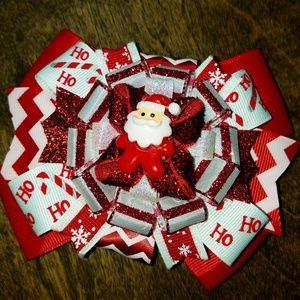 Other - Handmade Santa hairbow